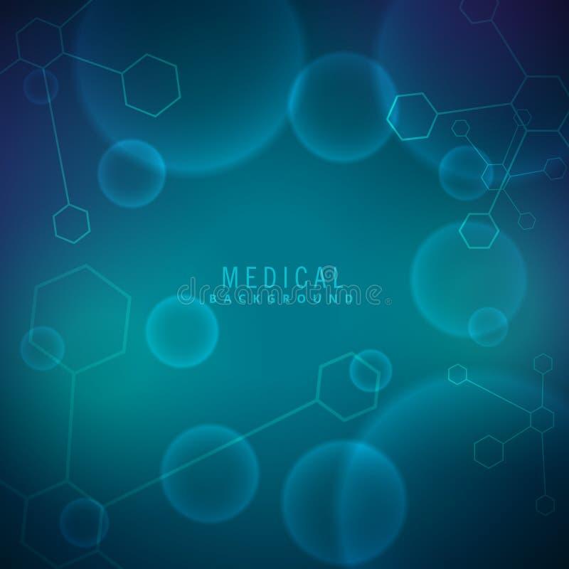 Fundo para a ciência e médico ilustração stock