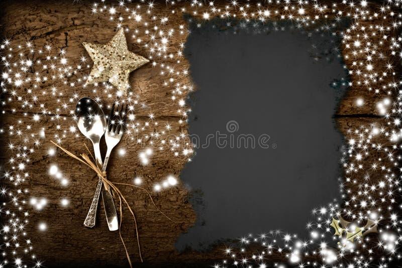 Fundo para escrever o menu do Natal fotos de stock