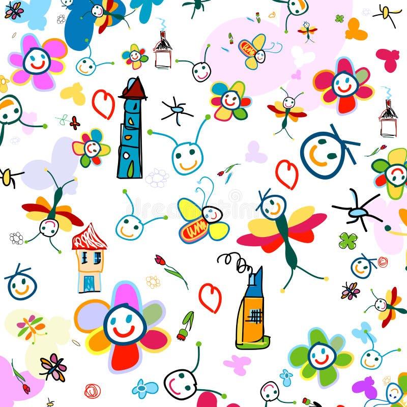 Fundo para miúdos ilustração stock