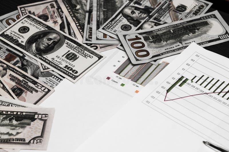 Fundo para o calendário, o negócio e o dinheiro fotografia de stock