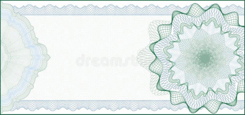 Fundo para o certificado de presente, vale ilustração stock
