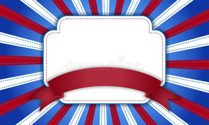 Fundo para o 4 de julho ilustração royalty free