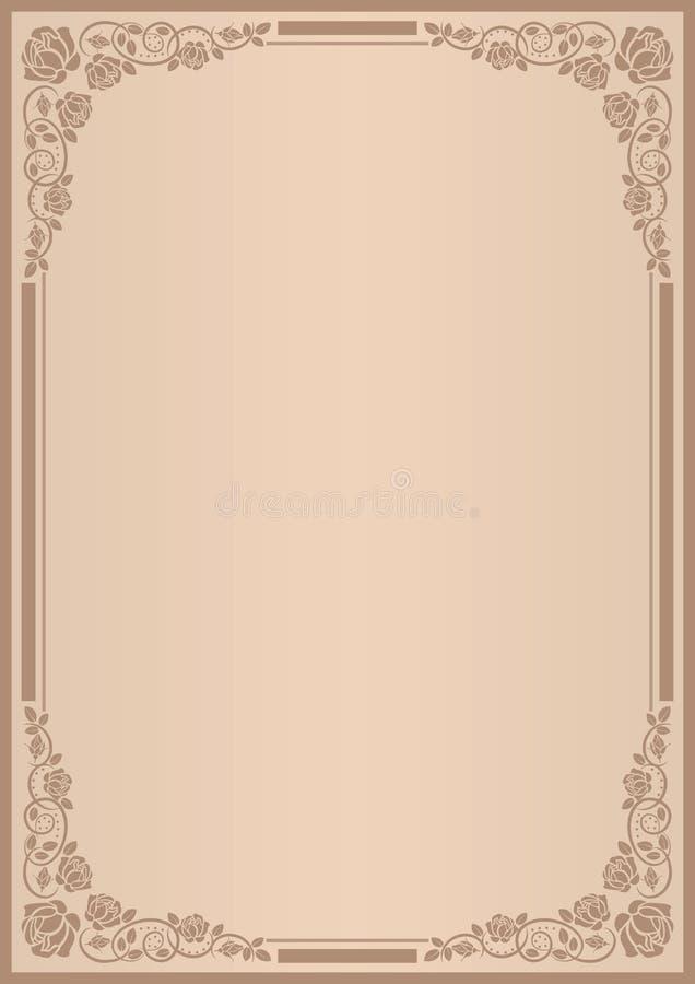 Fundo para o menu ilustração stock