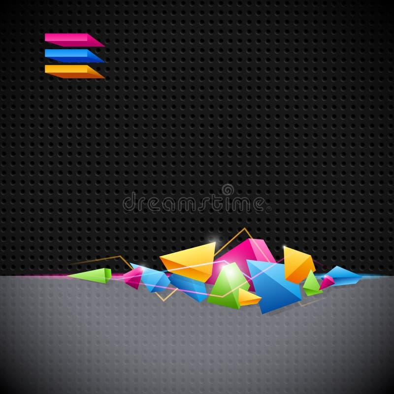 Fundo com abstracção geométrica colorida ilustração stock