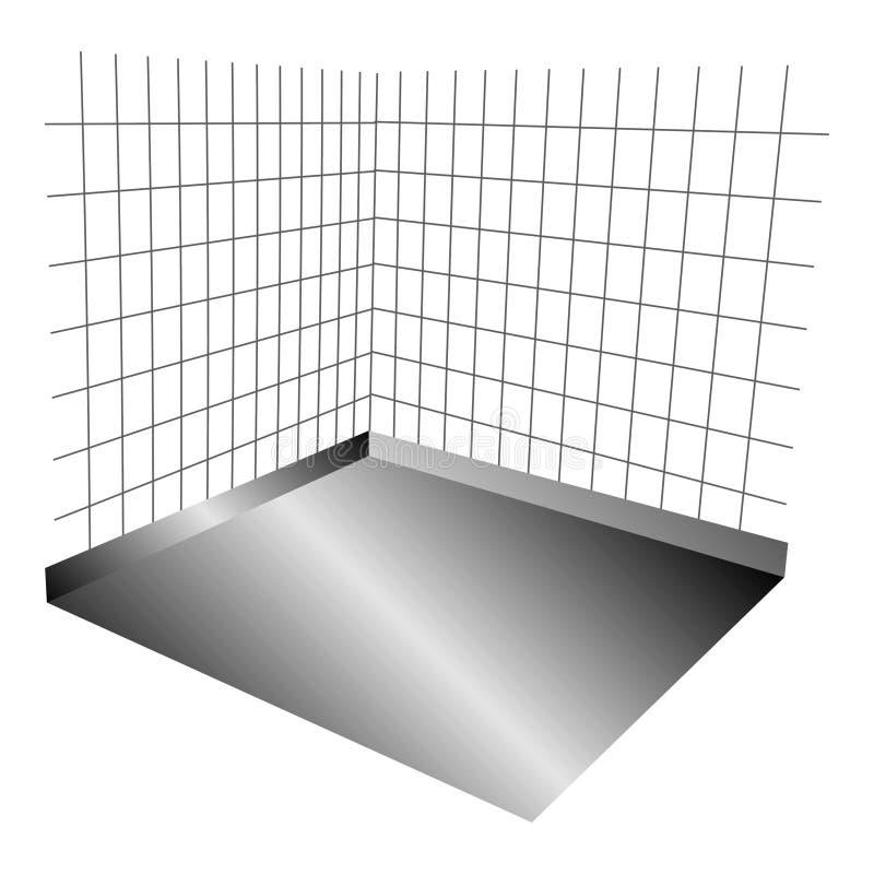 Fundo para paredes ou gaiola ilustração royalty free