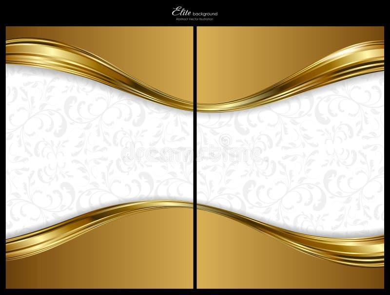 Fundo, parte dianteira e parte traseira abstratos do ouro ilustração royalty free