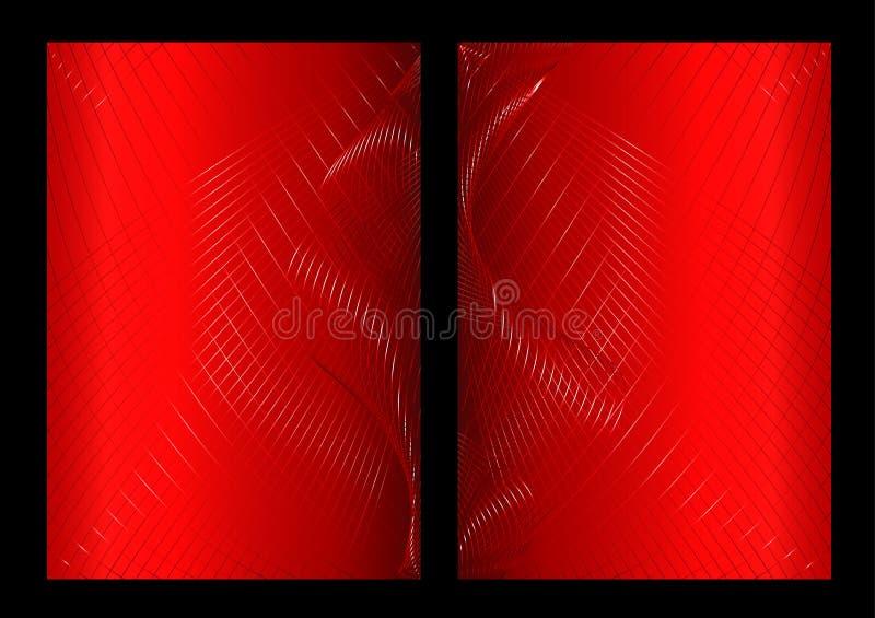 Fundo, parte dianteira e parte traseira abstratos vermelhos ilustração royalty free