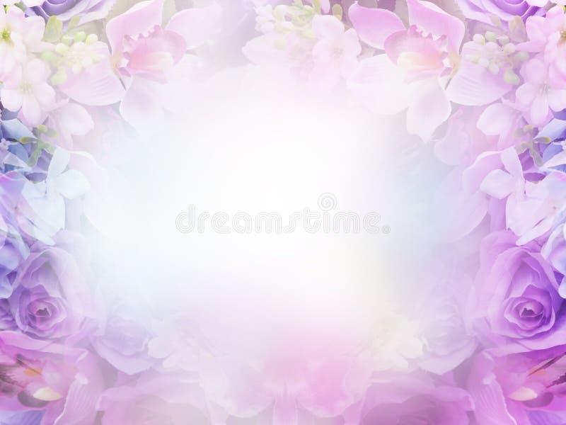 Fundo pastel abstrato floral com espaço da cópia fotos de stock