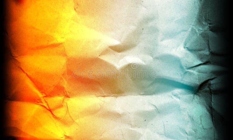 Fundo pastel azul de papel amarrotado abstrato dos efeitos das cores da mistura de cor clara da laranja multi ilustração do vetor