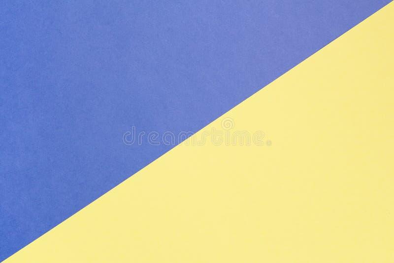 Fundo pastel azul e amarelo com espaço da cópia Textura da forma, conceito mínimo, imagens de stock royalty free