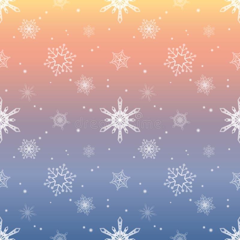 Fundo pastel da cor do céu da camada do matiz do teste padrão do floco de neve ilustração do vetor