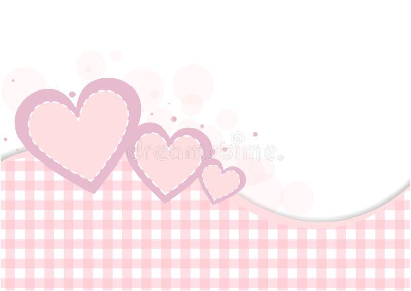 Fundo Pastel do coração ilustração stock