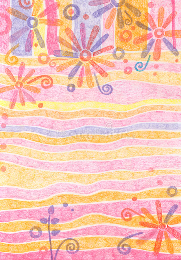 Fundo Pastel floral ilustração do vetor