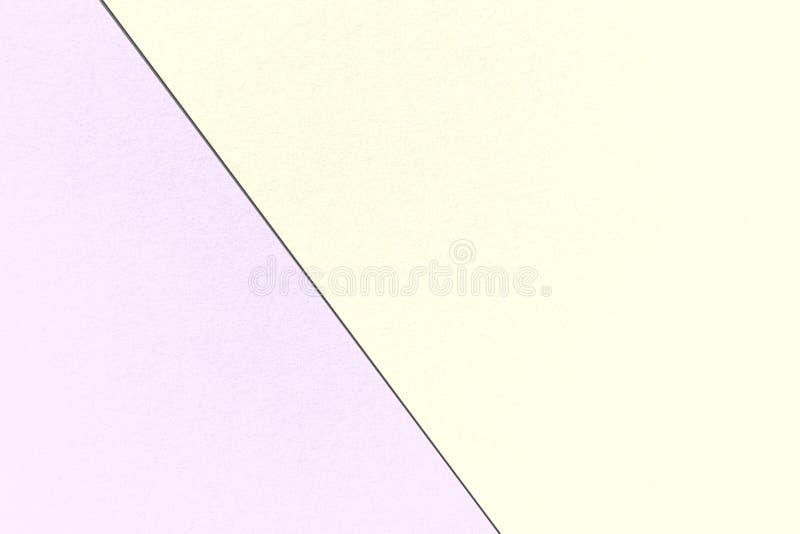 Fundo pastel geométrico do sumário com cores de Cornsilk e de alfazema, textura do papel da aquarela fotografia de stock