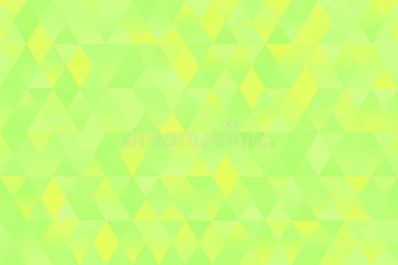 Fundo pastel geométrico sem emenda do rombo da mola do teste padrão amarelo verde de néon do triângulo fotos de stock
