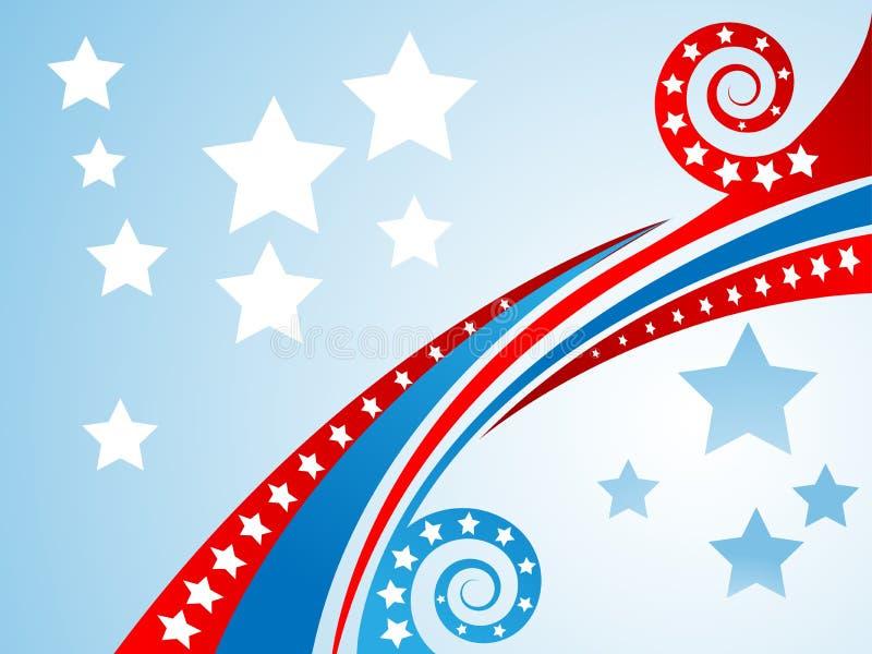Fundo patriótico ilustração royalty free