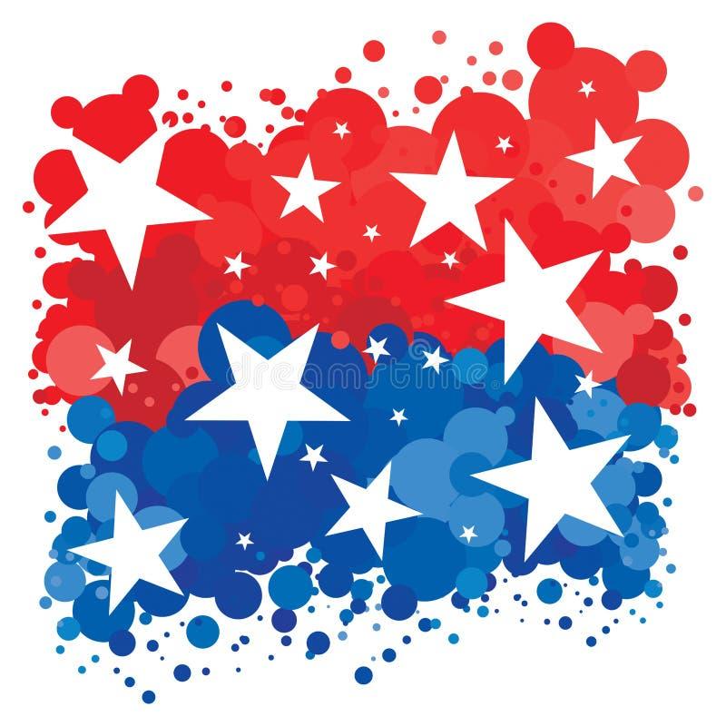 Fundo patriótico americano ilustração royalty free