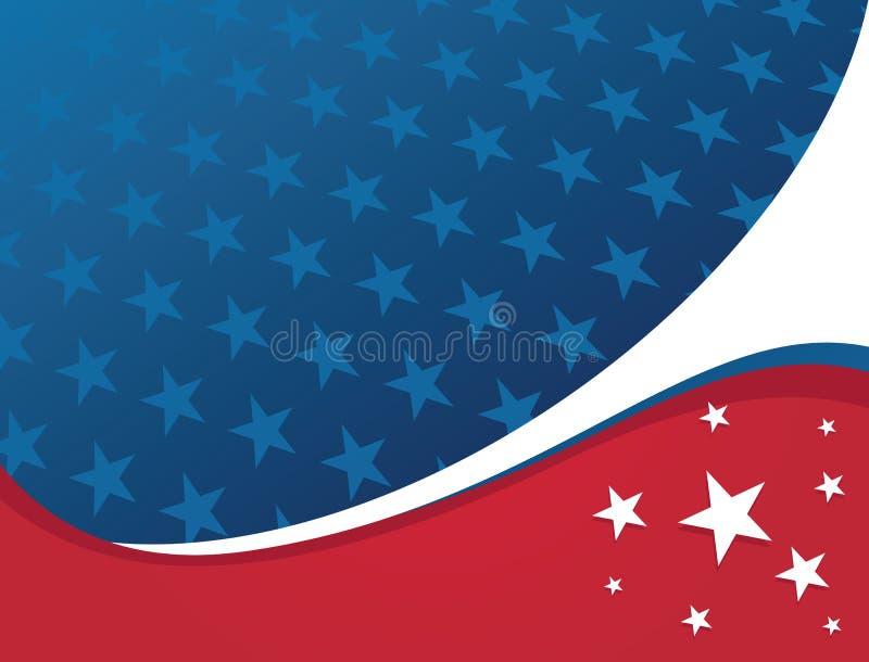 Fundo patriótico americano - estrela ilustração stock