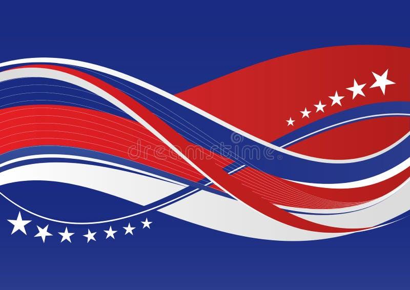 Fundo patriótico - estrelas e listras ilustração do vetor