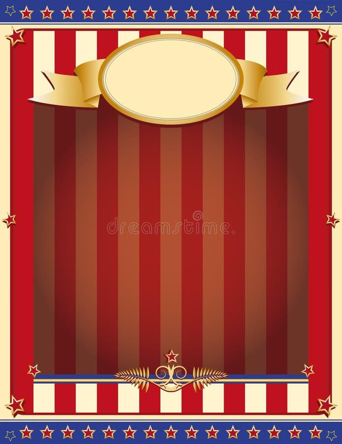 Fundo patriótico velho ilustração stock