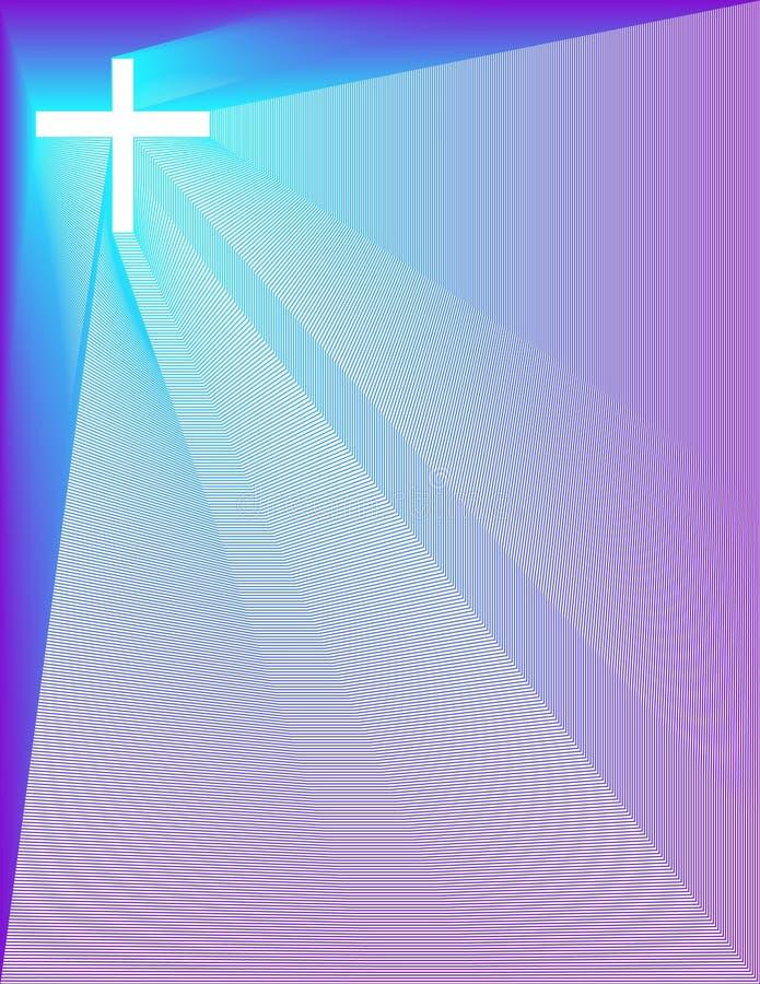 Fundo Pavão-Roxo da manutenção programada da cruz ilustração stock