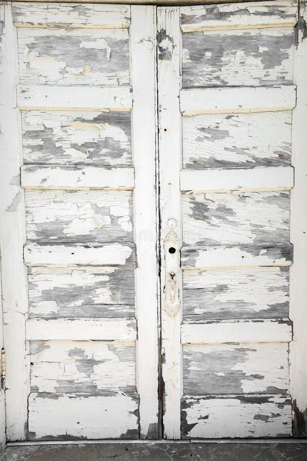 Fundo pealing branco da pintura imagens de stock