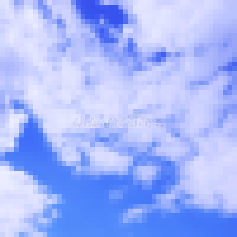 Fundo photorealistic do vetor do céu da arte do pixel ilustração royalty free