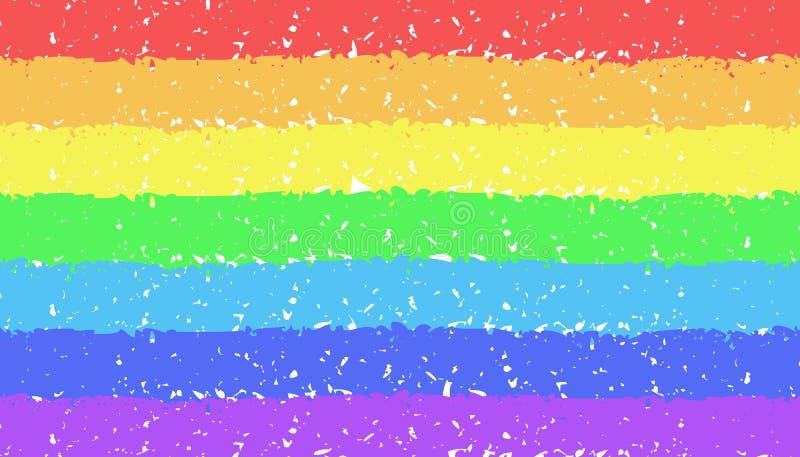 Fundo pintado à mão do arco-íris do pastel ilustração stock
