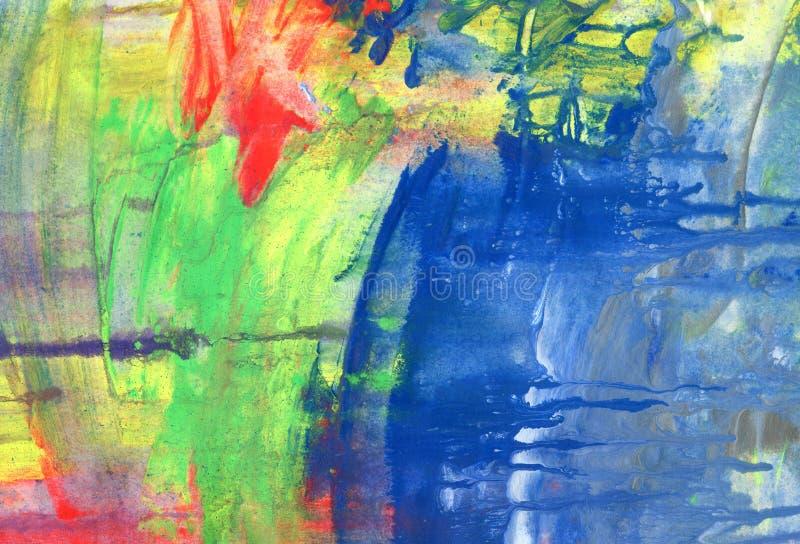 Fundo pintado acrílico abstrato fotografia de stock