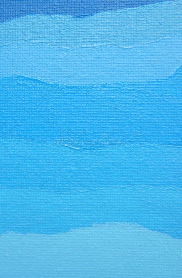 Fundo pintado azul da cor de óleo imagem de stock