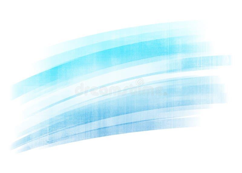 Fundo pintado azul do curso da escova ilustração royalty free