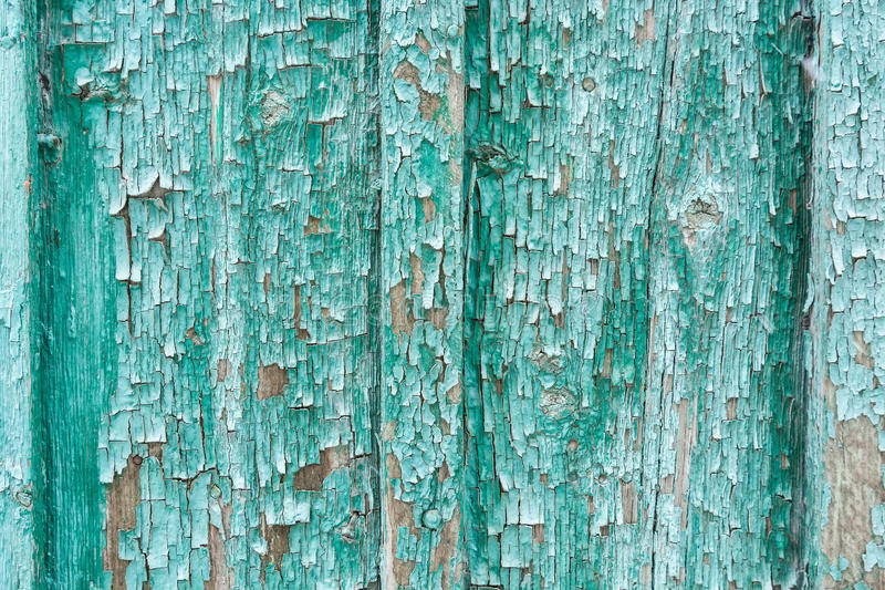 Fundo pintado ciano de madeira foto de stock
