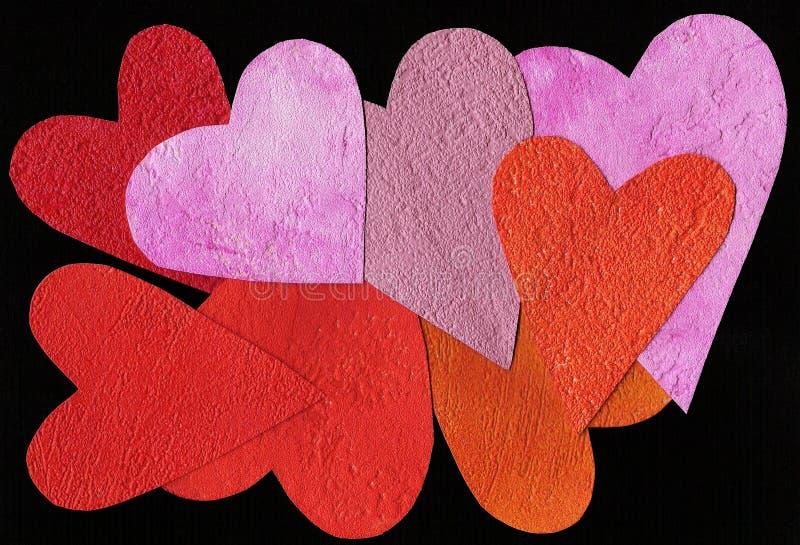 Fundo pintado colorido do coração imagem de stock royalty free