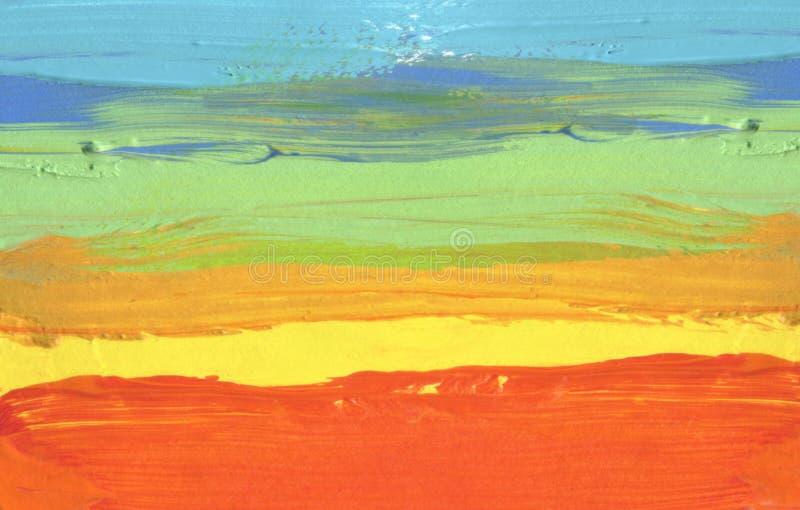 Fundo pintado da escova curso acrílico abstrato fotografia de stock royalty free