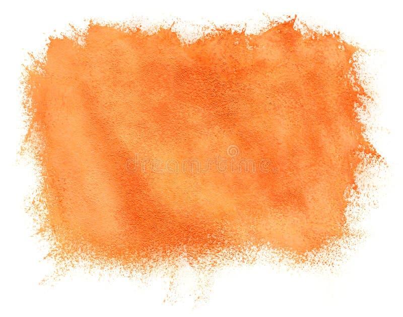 Fundo pintado da laranja da aguarela fotografia de stock