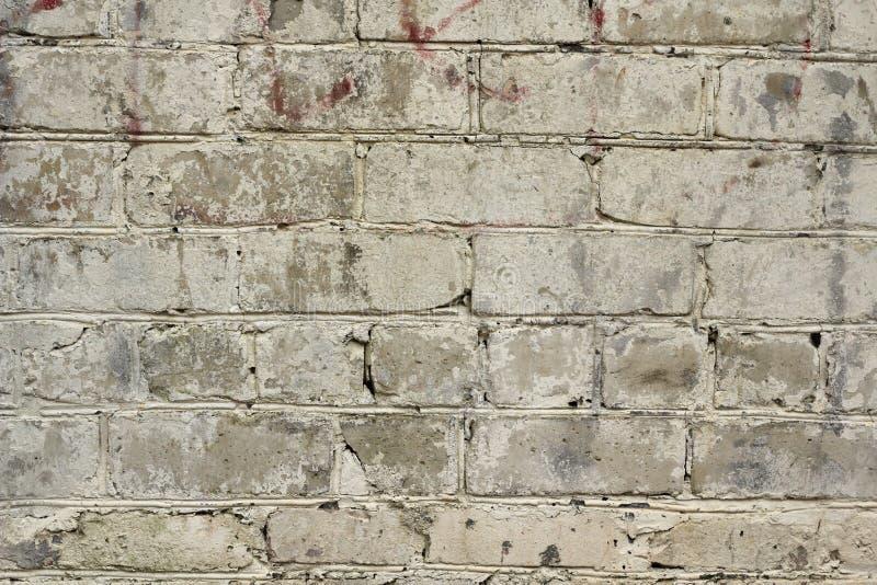 Fundo pintado da parede de tijolo imagens de stock