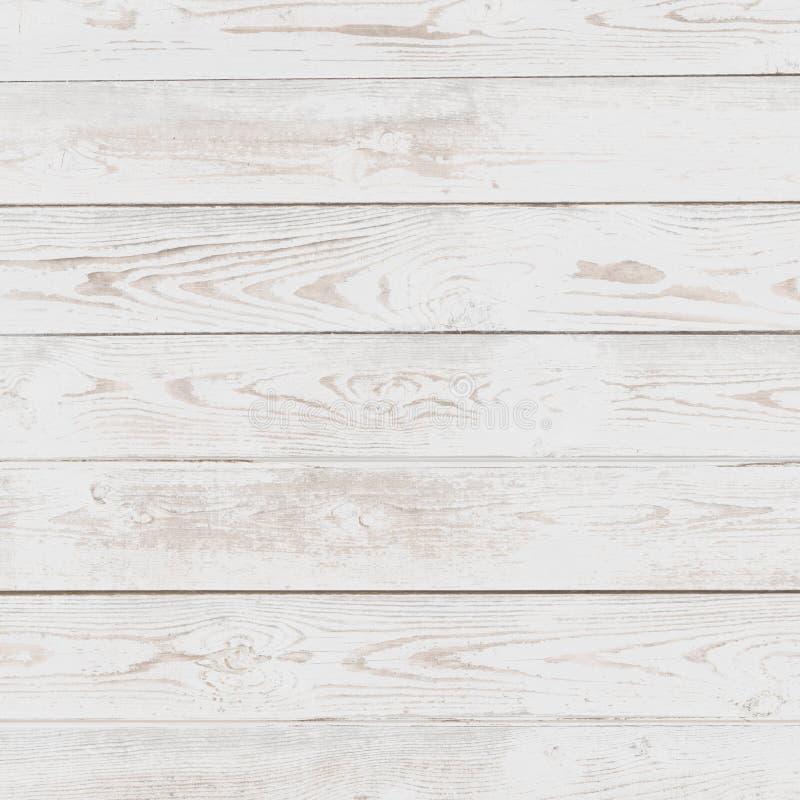 Fundo pintado de madeira branco do Grunge foto de stock