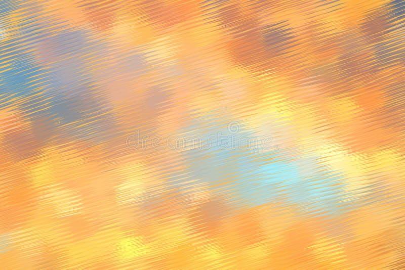 Fundo pintado digital azul e alaranjado abstrato do teste padrão fotografia de stock royalty free