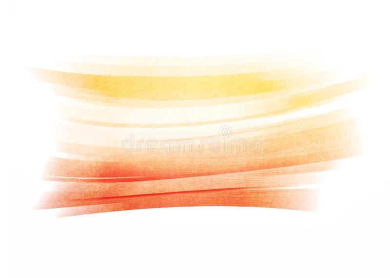 Fundo pintado laranja do curso da escova ilustração stock
