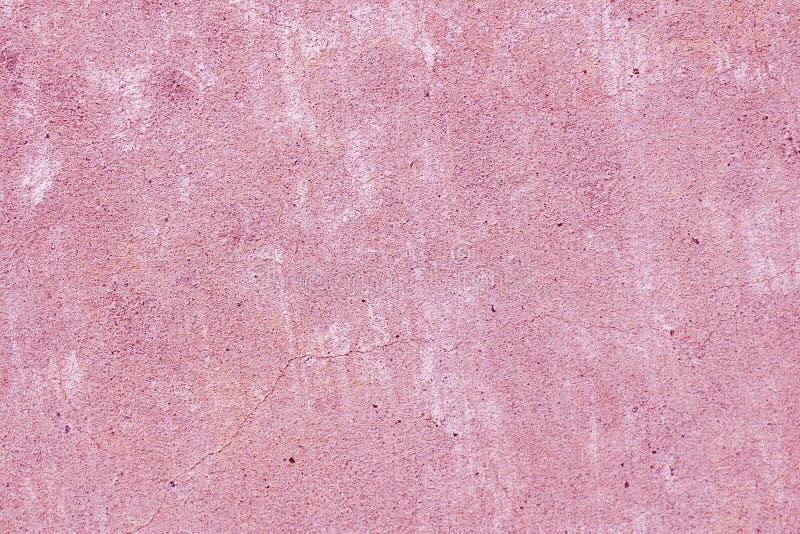 Fundo pintado rosa da textura da parede fotografia de stock