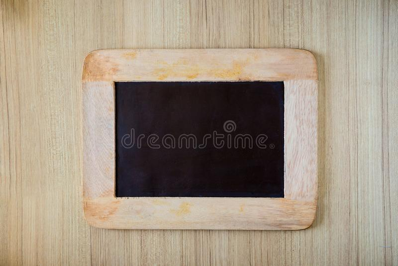 Fundo/placa vazios da placa de giz Fundo do quadro-negro fotografia de stock royalty free