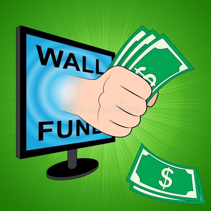 Fundo político de Gofundme do trunfo para nós financiamento da parede de México - ilustração 3d ilustração royalty free