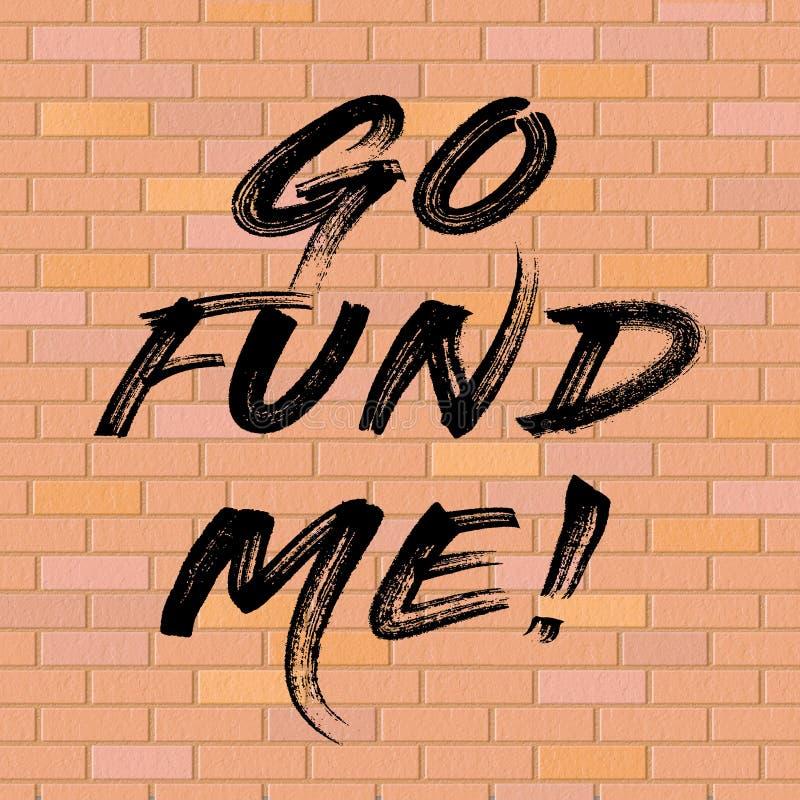Fundo político de Gofundme do trunfo para o financiamento da parede dos EUA México - 2d ilustração ilustração stock