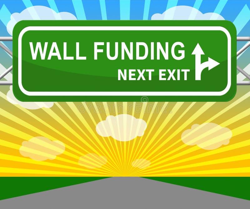 Fundo político de Gofundme do trunfo para o financiamento da parede dos EUA México - ilustração 3d ilustração royalty free