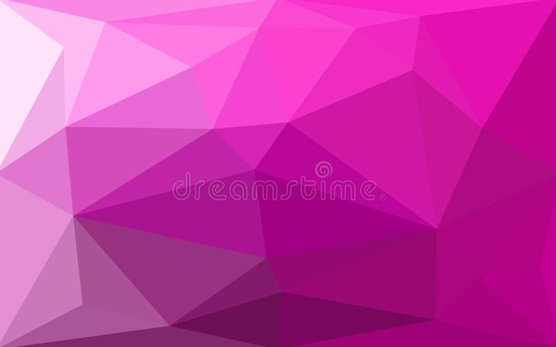 Fundo poli triangular emaranhado geométrico da ilustração do inclinação do estilo do sumário violeta roxo da magenta baixo Vetor  ilustração stock