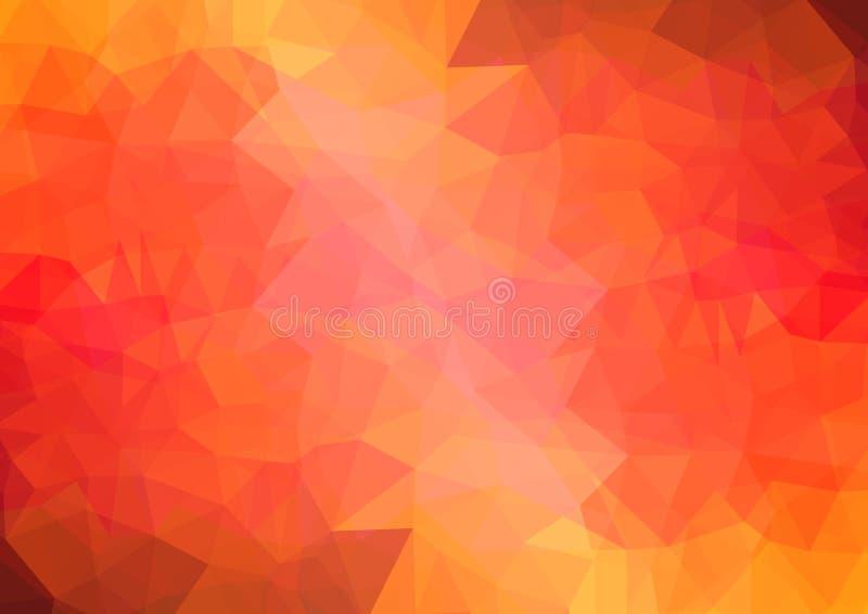 fundo poli triangular geométrico vermelho do gráfico da ilustração do inclinação do estilo da Multi-cor baixo ilustração stock