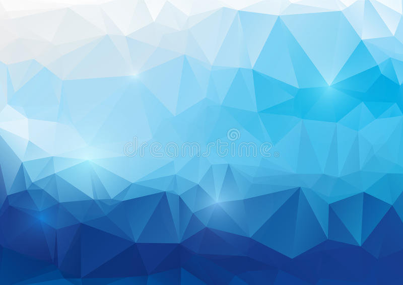 Fundo poligonal abstrato azul ilustração royalty free