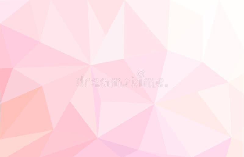 Fundo poligonal abstrato cor-de-rosa ilustração do vetor