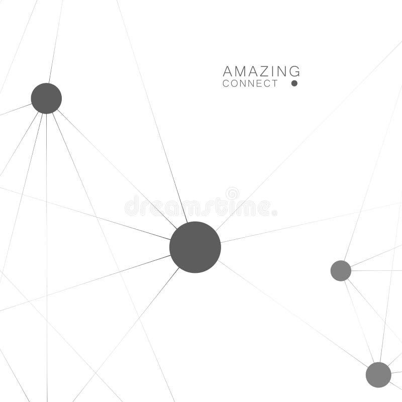Fundo poligonal abstrato do vetor com estrutura da conexão Projeto para a tecnologia imagens de stock royalty free