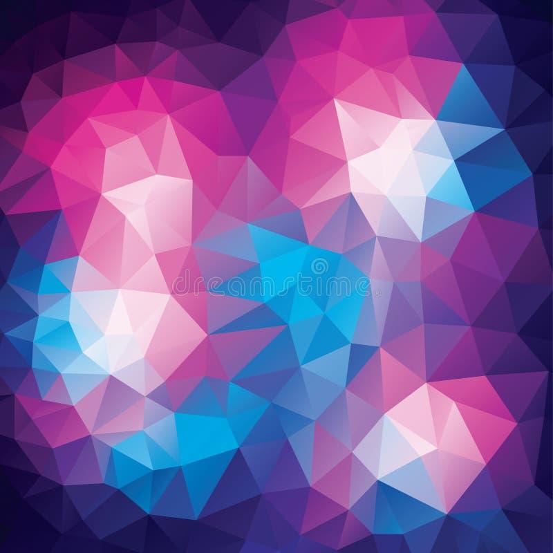 Fundo poligonal abstrato dos triângulos do colorfull em linhas geométricas ilustração stock